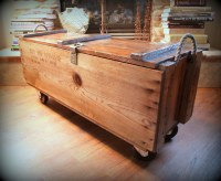 INDUSTRIAL FURNITURE /// WOOD Box // Wooden Crate ...