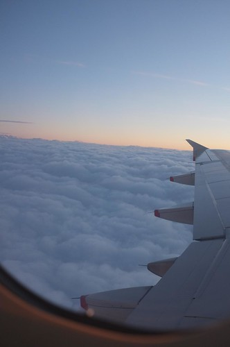 in the air, from paris to london