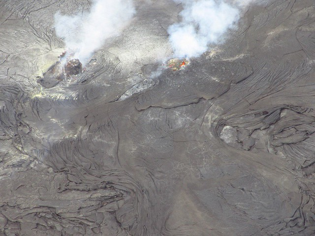 volcano with two outbreaks