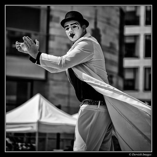 Mime On Stilts by Dervish Images