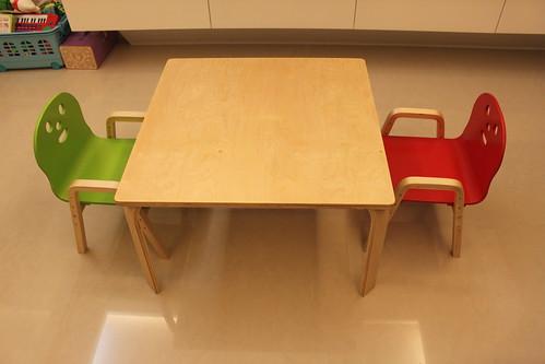 兒童曲木學習桌椅組 @ 1+1=Family :: 痞客邦