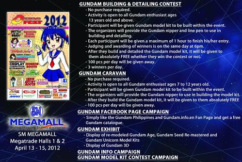 Gundam Caravan Building & Detailing Contest  SM Megamall April 2012