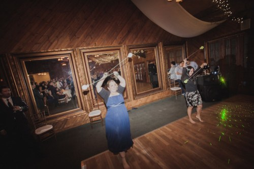 The Groom's sister and her best friend performed their infamous Poi Ball Dance, performed at every family celebration since they were kids.