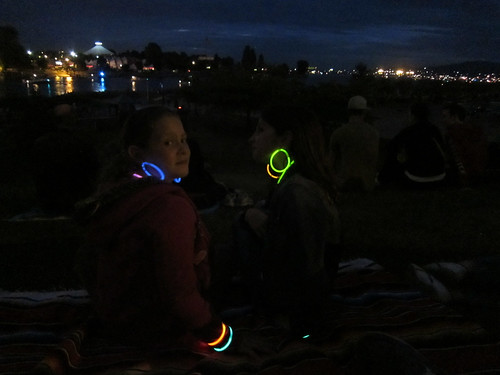 Glowing Girls at the Fireworks