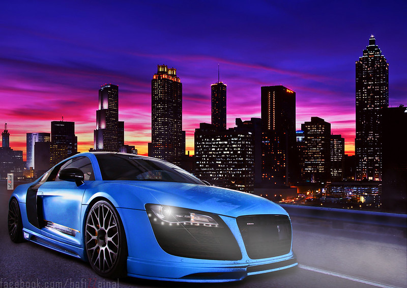 R8 cruising the night