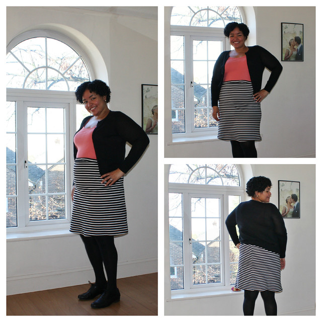 Stripey Maternity Skirt