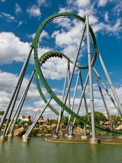 The Hulk Roller Coaster   Flickr - Photo Sharing!
