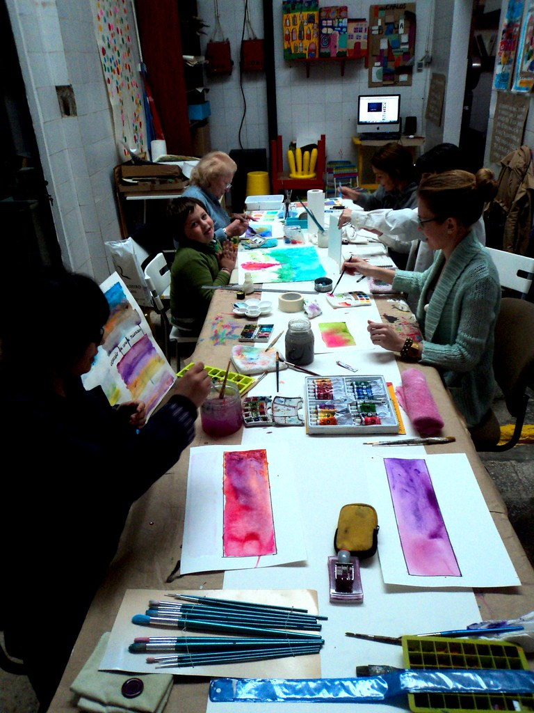 My first and HAPPY watercolour adult workshop