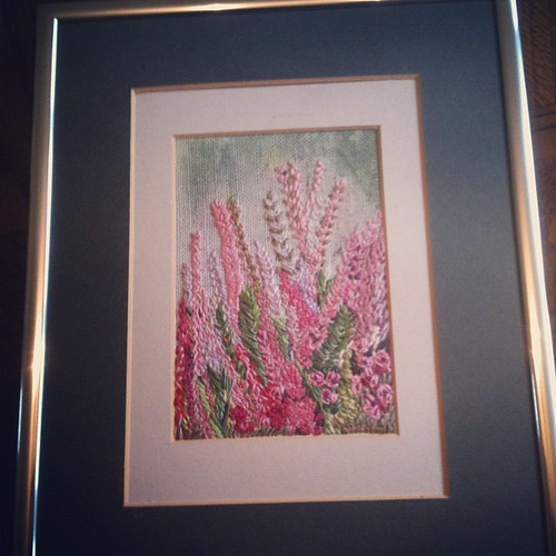 Thrifted embroidery, 'a glimpse of Ness Gardens'