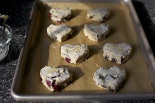 cherry chocolate chunk scones