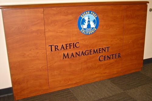 Buena Park Traffic Management Center signage