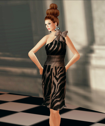 V.e. Opening Gift Zebra Dress by Riviera Medier
