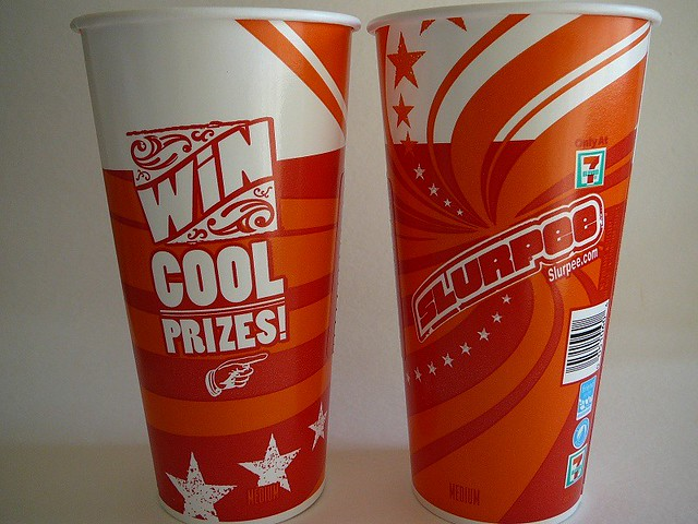 WIN COOL PRIZES SLURPEE  7Eleven 2012  By Majiscup