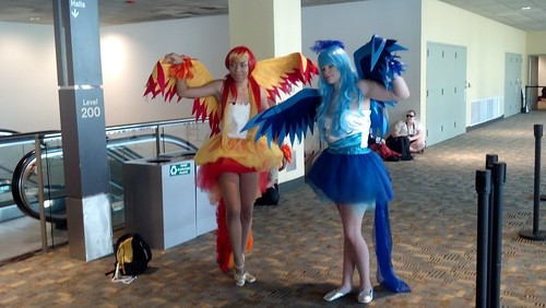 Two Winged Cosplayers at Otakon 2012