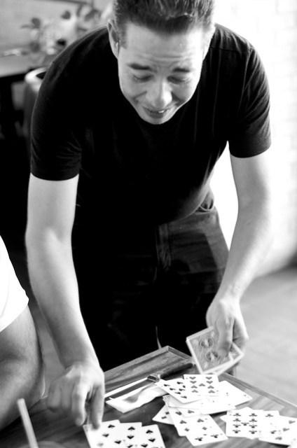 Gozner doing a magic trick