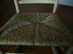 Rush chair seat