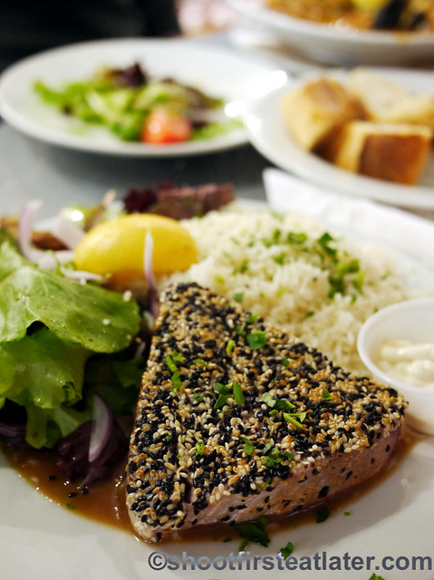 Seafood meals at Whole Foods Market- yellowfin tuna with sesame miso