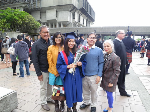 Me and my family at grad