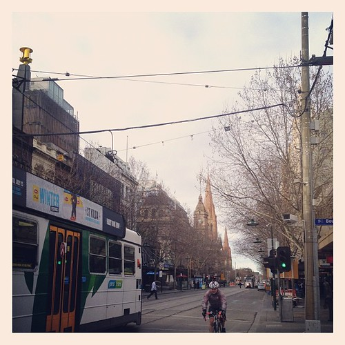 Melbourne. Sunday morning. Swanston street.