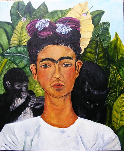 Frida Kahlo Self-Portrait 1940 Study WIP #11