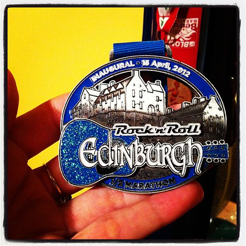 | Apr 17 | My newest medal! Third half marathon this year and a PR of 1:59!