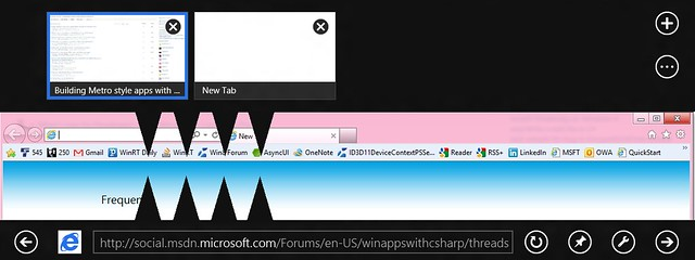 Metro Internet Explorer vs. Desktop Internet Explorer