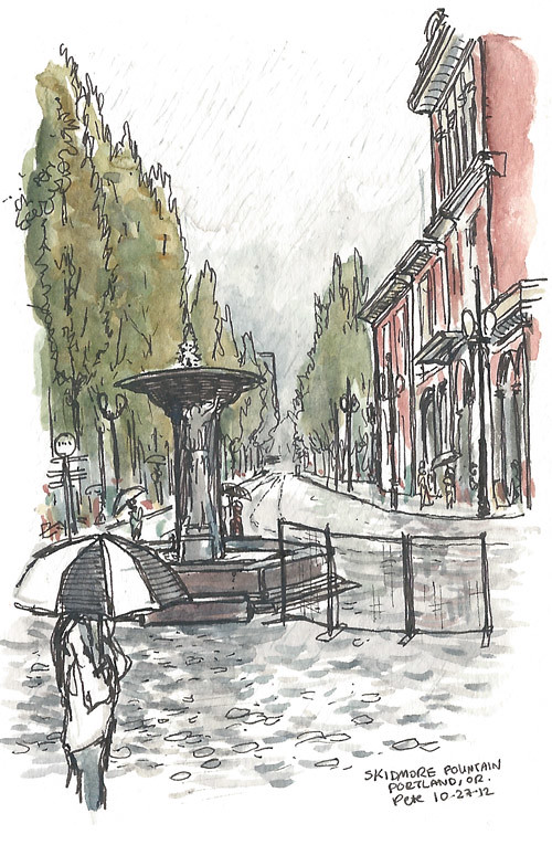 PDX rainy skidmore