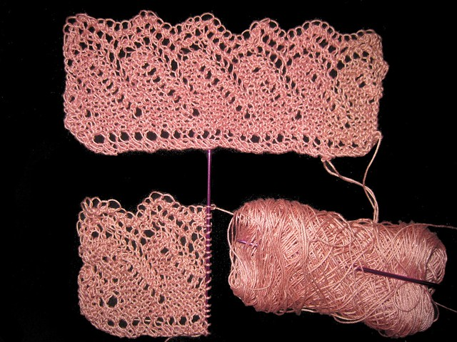hilton lace  1 down started on number 2