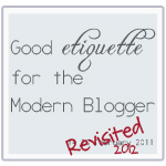 blog etiquette revisited blog button
