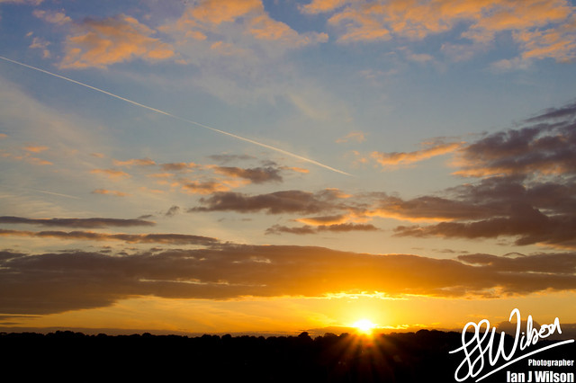 Watford Sunset – Daily Photo (16th July 2012)