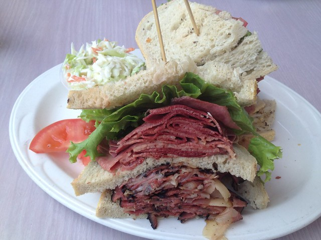 Hot pastrami with tongue sandwich - Sherman's Deli and Bakery