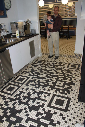 New York - Google - Sagan and Ryan with QR Code Flooring