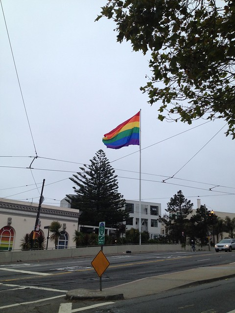 Rainbow flag in The Castro