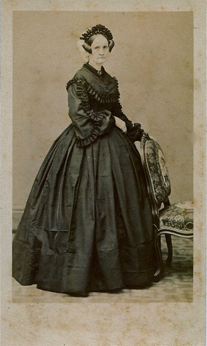 French Widow, Albumen Carte de Visite, Circa 1860