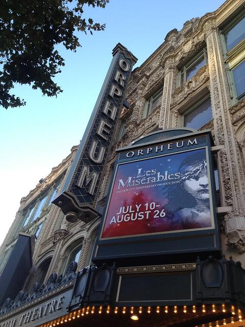 Les Miserables at the Orpheum Theatre