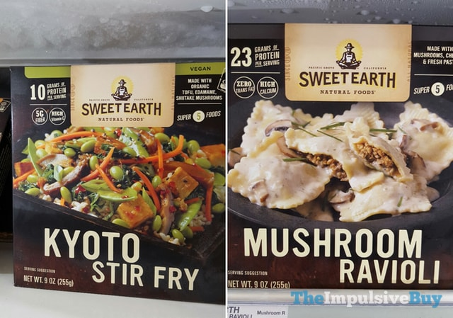 Sweet Earth Natural Foods Kyoto Stir Fry and Mushroom Ravioli