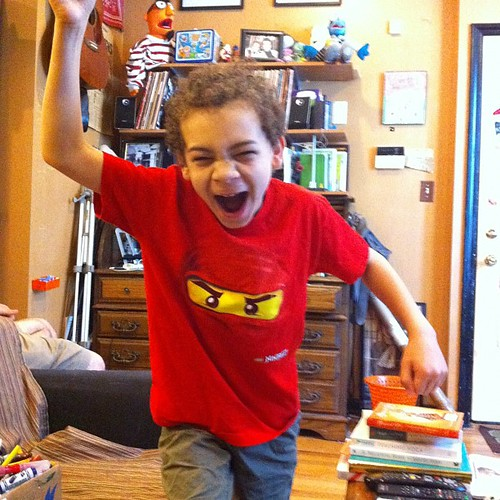 Aidan Is excited for the new Ninjago that's coming on tonight.
