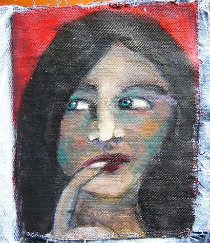 Fabric journal portrait