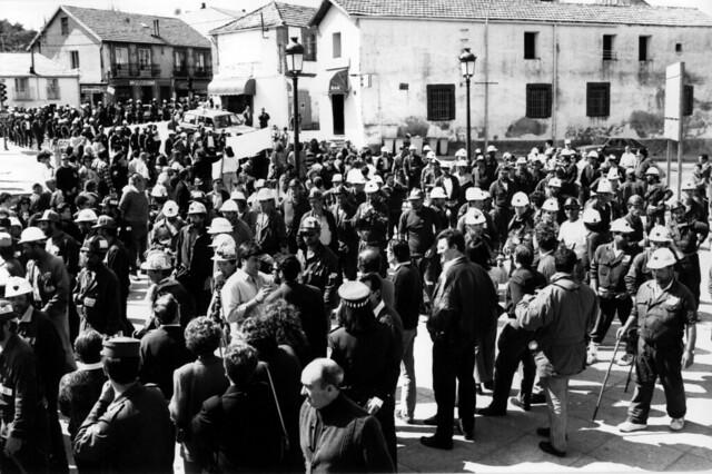 Llegada de los mineros a San Rafael. © Pedro Luis Merino