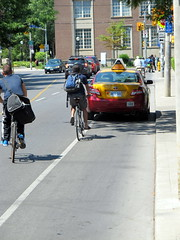 Taxi in the Bike Lane