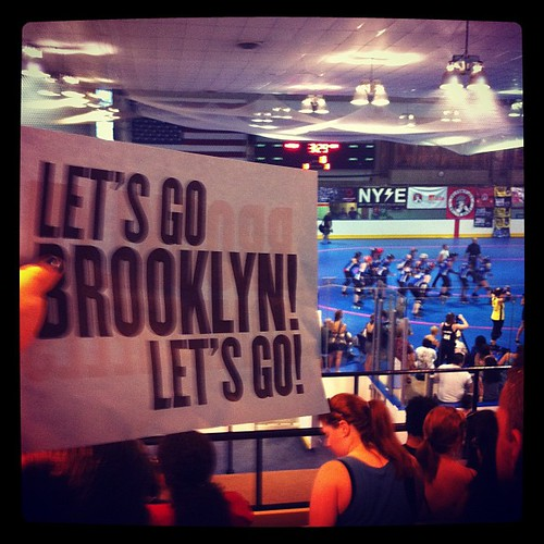 Now it's the ladies' turn! Let's go Brooklyn Bombshells!