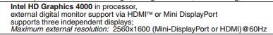 ThinkPad T430u display property