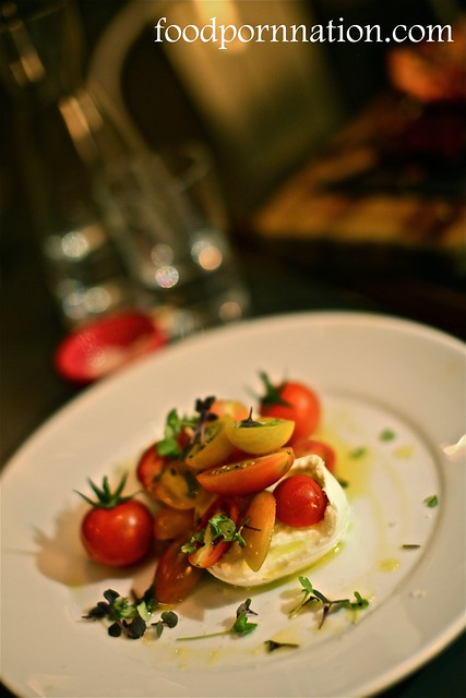 heirloom tomatoes, buffalo mozzarella, baby basil and olive oil