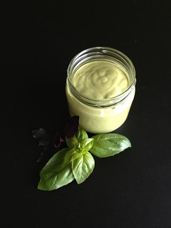 Creamy Basil Dressing from La Dolce Vegan!
