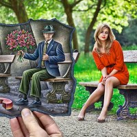 #Art4All Fotos e Desenhos Magicos de #Ben Heine - Magic and Mixed Art Drawing Vs Photography