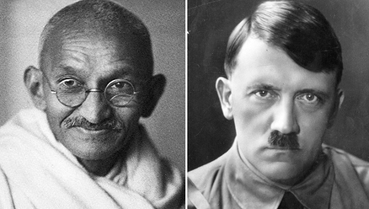 Image result for Gandhi  hitler