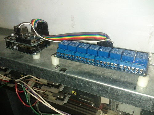 Arduino + Ethernet shield + relay board