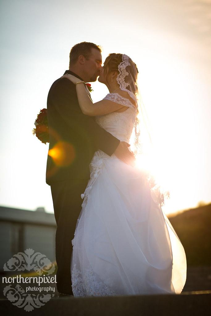 Melanie & Blake - Prince George BC Wedding Sunflare