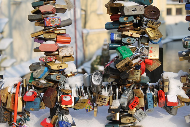 Love padlock on Kampa