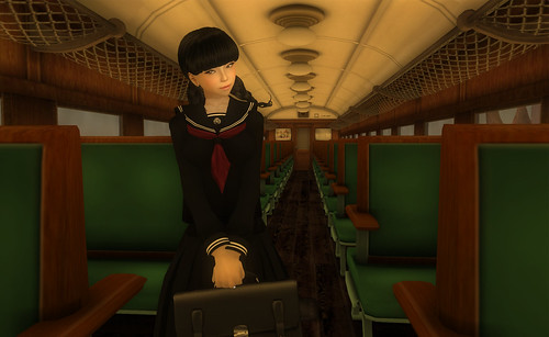 Inside the Lotus Train 1, photograph by Hilde Gynoid